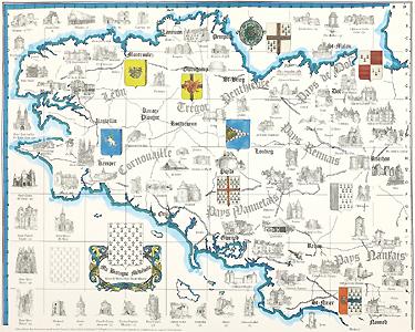 Carte de la Bretagne Médiévale