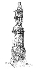 258 Statue – La vierge – Plozevet – Finistère