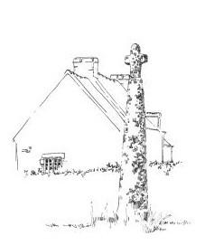 296 Finistère – Menhir christianisé de Plomeur