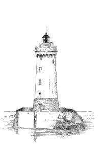 562 finist re nord phare du four atelier d 39 art de la lande - Dessin de phare ...