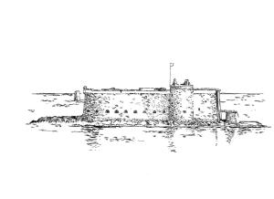 581 Finistère nord – Château du Taureau – Morlaix