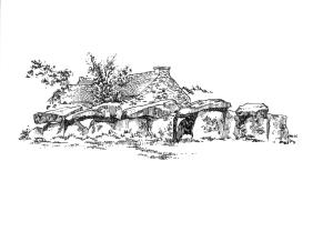 677 Finistère Allée couverte Mougau Commana