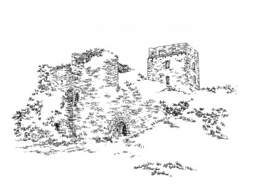 713 Finistère – Château de Tremazan – ruines