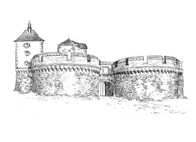 723 Loire atlantique – Remparts – Ancenis