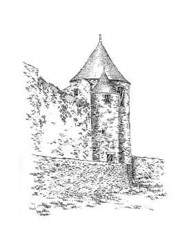 745 Côtes d'armor – Remparts porte neuve – Quintin