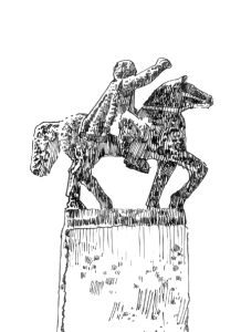 752 Statue équestre – Baron du Juch – Finistère