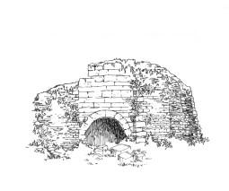 763 Ramparts ruines château Dreors – Priziac – Morbihan