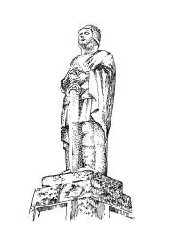 857 Statue – Nominoe – Bain-sur-oust – Ille et Vilaine