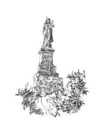 892 Finistère – Statue Notre dame des montagnes noires – Spezet