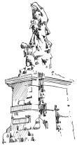 92 Finistère – Statue Notre dame des Naufrages – Plogoff
