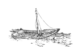 1041 Morbihan – Arz – Cimetière de bateaux