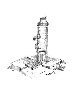 1068 Morbihan – Arz – Pompe manivelle