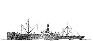 473 Finistère – L'Hélène échoué au nord ouest de l'ile de Sein