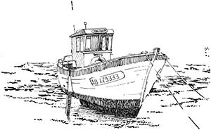 476 Finistère – Ile de Sein – Bateau de pêche – Le Malfaout