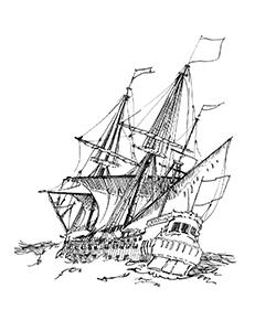 544 Finistère – Le Tritton échoué au sud de Brézelec en 1723