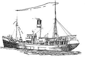 546 Finistère – Le Michel François coulé en 1944 à la Gamelle