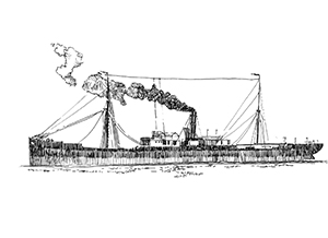 547 Finistère – Le Premier coulé en baie de Douarnenez en 1898