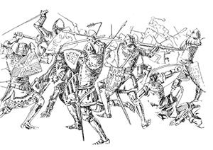 932 Morbihan – Entre Josselin et Ploërmel a eu lieu la Bataille des Trentes
